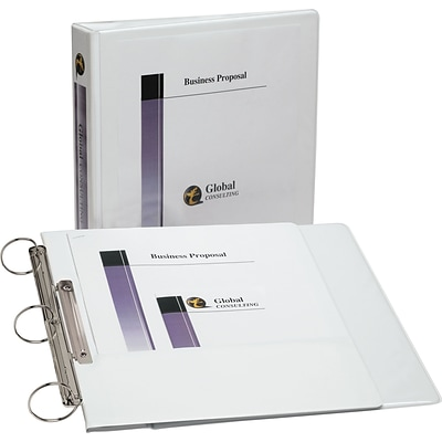 Avery Flip Back Binder with 1-1/2 Ring, White (17590)