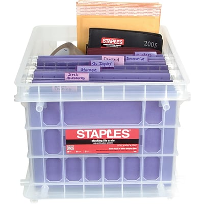 File Storage Crate, Clear