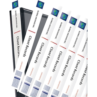 Avery® Binder Spine Inserts, For  1 Binders, 40/Pack
