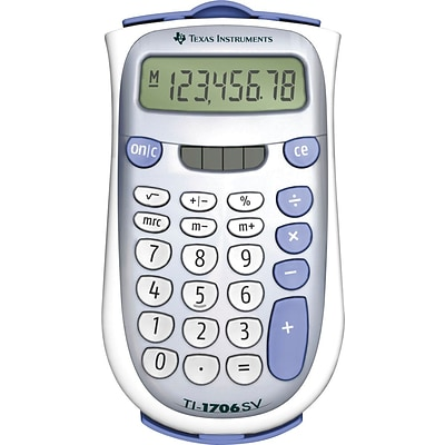 Texas Instruments Solar/Dual Powered Calculators, TI-1706 Anylite Calculator
