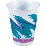 Solo® Jazz® Styrofoam Hot & Cold Cups, 12 Oz., Design, 1,000/Ct