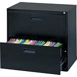 MBI® 26-5/8x30x18 2-Drawer Black Lateral File