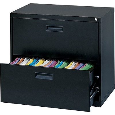 MBI® 2-Drawer Lateral File Cabinet, 26-5/8Hx30Wx18D, Black