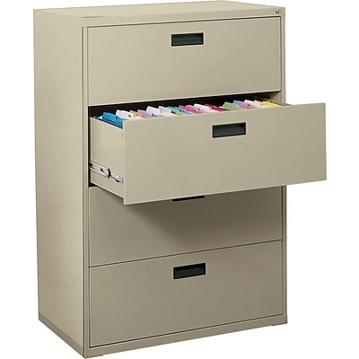 MBI® 4-Drawer Lateral File Cabinet, 52-5/8Hx30Wx18D, Putty