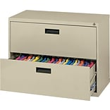 MBI® 2-Drawer Lateral File Cabinet; 26-1/2H x 30W x 18D, Putty