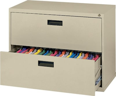 MBI 2 Drawer Lateral File Cabinet 26 12H x 30W x 18D Putty