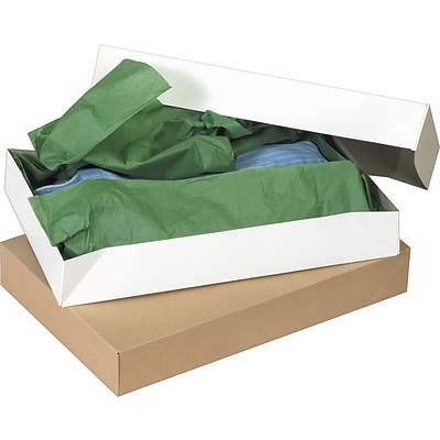 Quill Brand® White Apparel Boxes, 11 1/2 x 8 1/2 x 1 5/8, 100/Case