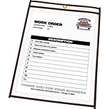 C-Line Plastic Shop Ticket Holder, Clear Vinyl, 8 1/2 x 11, 25/Bx