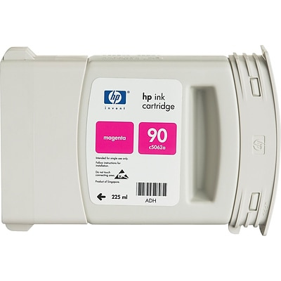 HP 90 Magenta Ink Cartridge (C5062A), 225ml