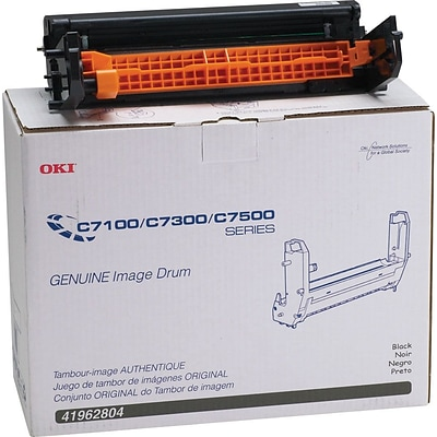 OKI® 41962804 Image Drum for C7100, C7300, C7500 Printers, Black