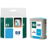 HP 82 Cyan Ink Cartridge (C4911A); 69ml