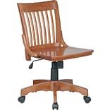 Office Star & trade, Armless  Wood Chair, Medium Fruitwood