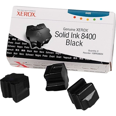 Xerox Phaser 8400 Black Solid Ink (108R00604), 3/Pack