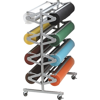 Pacon Horizontal Rolla Rack, Mobile Paper-Dispensing Rack