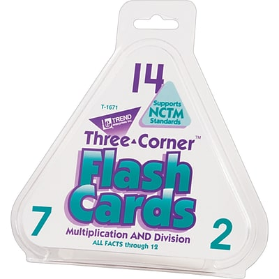 Trend® Three Corner® Math Flash Cards, Multipication & Division