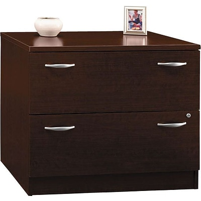 Bush Westfield Elite 36W 2Dwr Lateral File, Mocha Cherry, Pre-Assembled