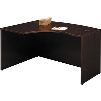 Bush Business Westfield 60W x 43D Left Hand L-Bow Desk Shell, Mocha Cherry