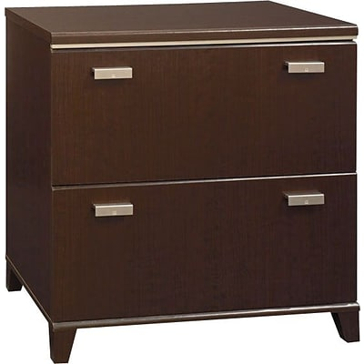 Bush® Furniture Tuxedo 2-Drawer Lateral File Cabinet, Mocha Cherry, Letter/Legal/A4 (WC21854)