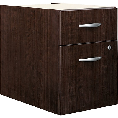 Bush Business Westfield Elite 2-Drawer 3/4 Pedestal, Mocha Cherry, Installed