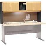 Bush Business Cubix 72W Hutch, Euro Beech/Slate, Installed