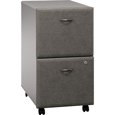 Bush Business Cubix 2Dwr Mobile Pedestal, Pewter/White Spectrum