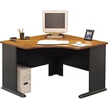 Bush Cubix Nat. Cherry/Grey Corner Desk