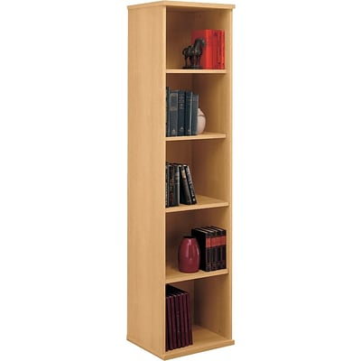 Bush Business Westfield 18W 5 Shelf Bookcase, Danish Oak