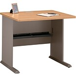 Bush® Cubix™ 36W Danish Oak Finish Desk
