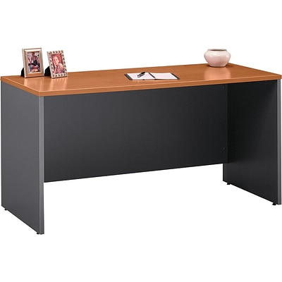 Bush Business Westfield 60W Credenza Shell, Natural Cherry/Graphite Gray