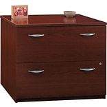 Bush Business Westfield 36W 2Dwr Lateral File, Cherry Mahogany, Pre-Assembled