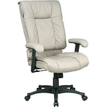 Office Star Tan Leather Swivel Chair