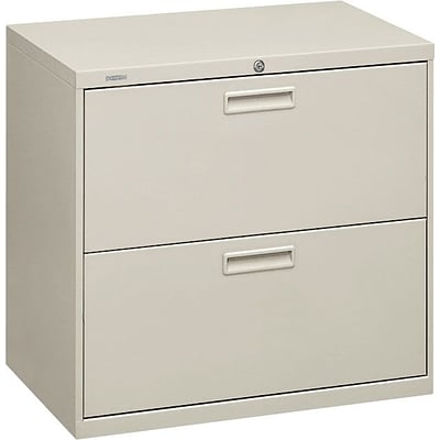 HON® Brigade® 500 Series 2 Drawer Lateral File Cabinet, Letter/Legal, Light Grey, 30W (HON572LQ)