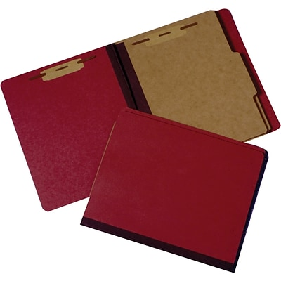 Georgia Industries for the Blind Classification File Folders, Red, LETTER-size Holds 8 1/2 x 11