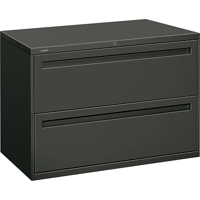 HON Brigade® 700 Series Lateral File, 2-Drawer, Charcoal (792LS)
