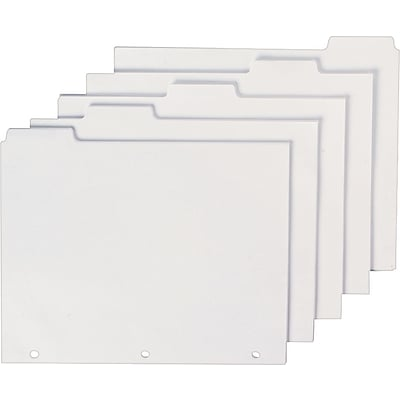 Blank Index Dividers, 8 1/2 x 11, 100/Pk