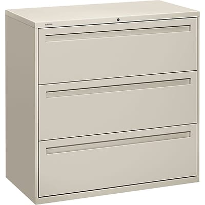 HON® 700 Series Lateral Files, 3-Drawer, 40-7/8Hx42W, Light Grey