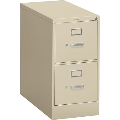 HON® S380 Series 2 Drawer Vertical File Cabinet, Putty, Letter, 26D (HS382PL)