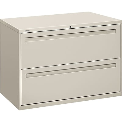 HON Brigade® 700 Series Lateral File, 2-Drawer, 28-3/8Hx42Wx19-1/4D, Light Grey