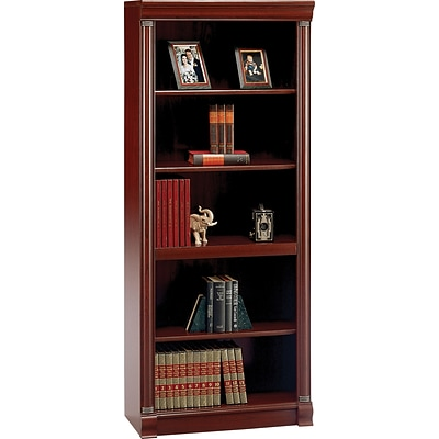 Bush Furniture Birmingham 5 Shelf Bookcase, Harvest Cherry