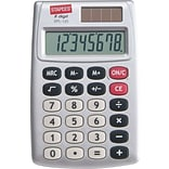 Staples® SPL-120-CC 8-Digit Display Calculator; Silver