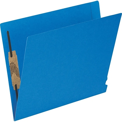 Esselte® Letter Straight Cut Recycled Classification Folder with 2 Capacity Fastener, Blue, 50/Pack