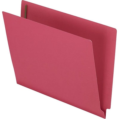 Esselte® Letter Straight Cut Recycled Classification Folder w/3/4 Expansion, Red, 50/Pack