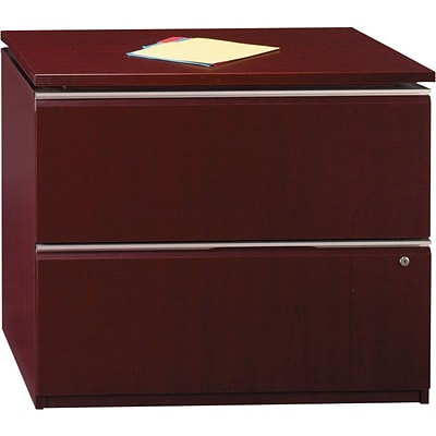 BBF Milano2 Series Lateral File, 2-Drawer, Harvest Cherry, 30 1/2H x 35 3/4W x 23 3/8D, Dock Delivery