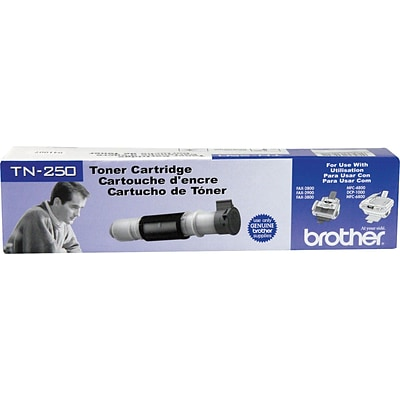 Brother Genuine TN250 Black Original Laser Toner Cartridge