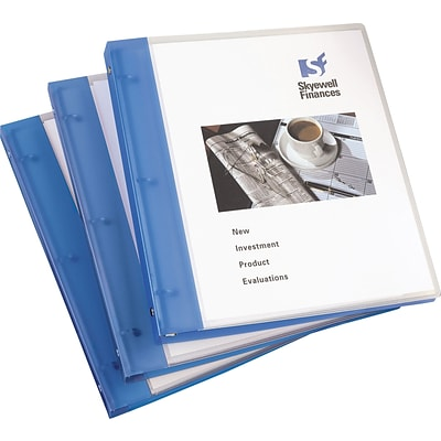 Avery® Flexible Presentation 1 Round Ring Binder, View, Blue, 3-Ring