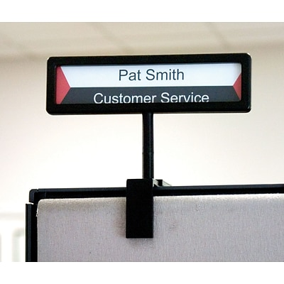 Advantus Cubicle Signs, Black, Each (75334)