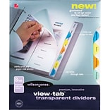 Wilson Jones® View-Tab® Transparent Dividers, 8-Tab Set, Multicolor Round Tabs
