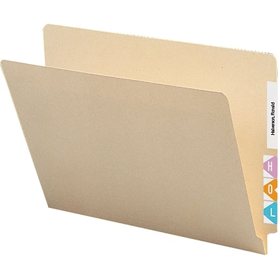 Quill® Manila End-Tab File Folders, Reinforced Tab, Letter, 250/Box (613395)