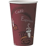 Solo® Paper Hot Cups Perfect Pak® 16 oz., Bistro® Design, 300/Carton (OF16BI-0041)