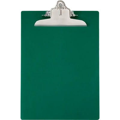 Saunders Recycled Plastic Clipboard, Letter, Green Opaque, 8 1/2 x 12